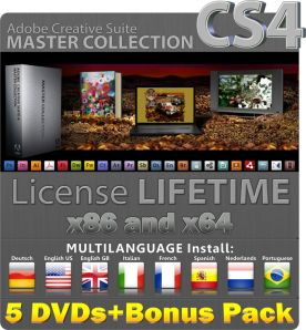 Adobe Creative Suite CS4 Master Collection 6 dvd