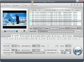 WinX DVD Ripper Platinum 6.5 screenshot
